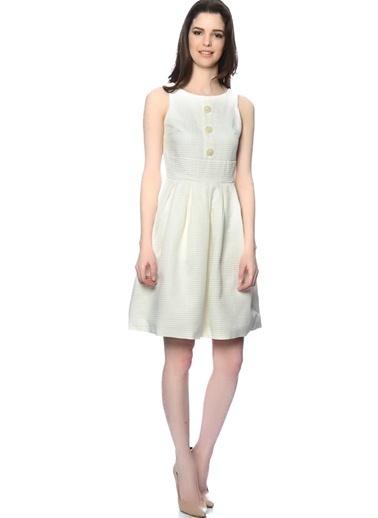 Darling Askılı Kloş Elbise Beyaz